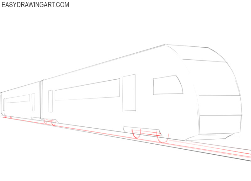 how to draw a fast train