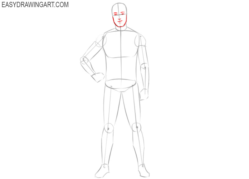 how to draw a football player cartoon step by step