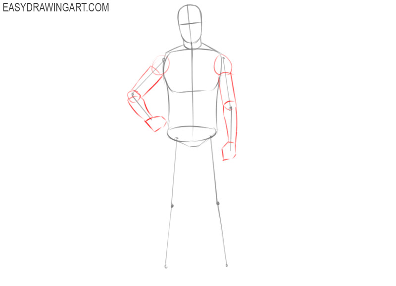 how to draw a football player easy step by step