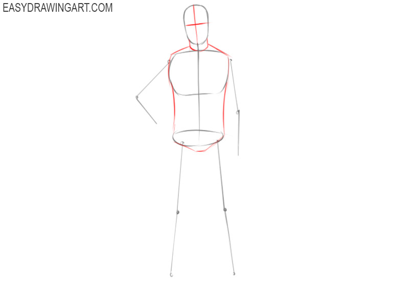how to draw a football player for beginners