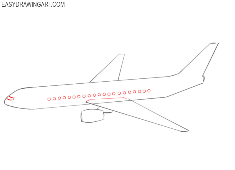 how to draw a good airplane