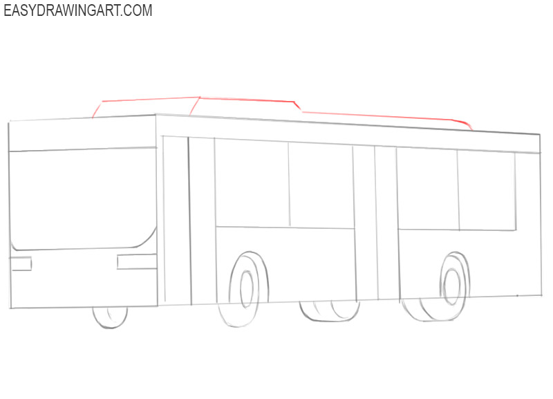 how to draw a good bus