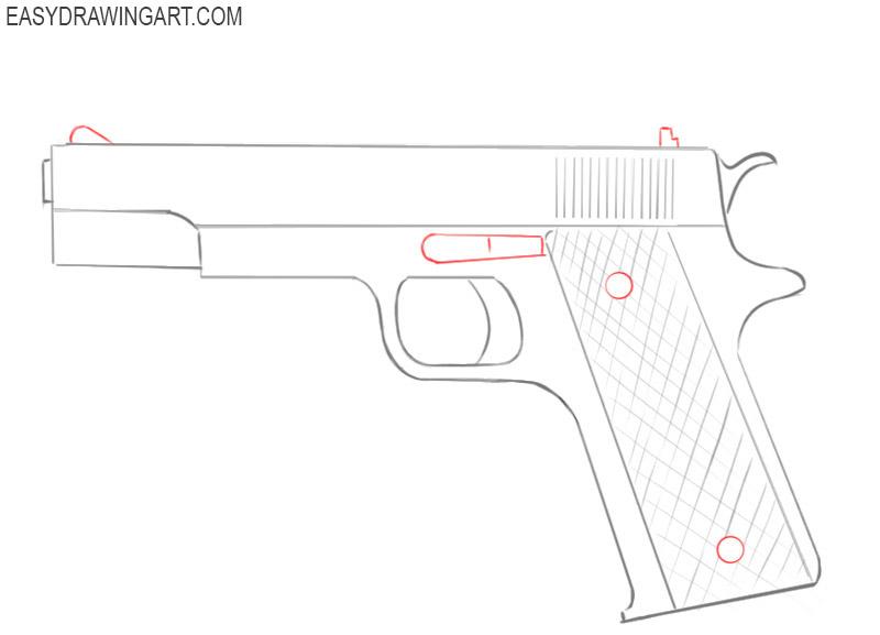 how to draw a good gun