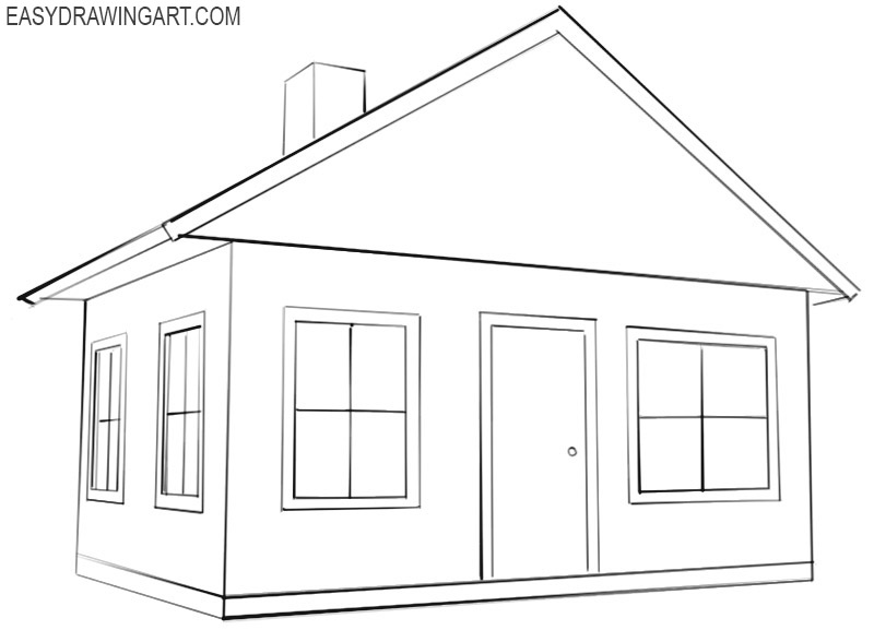 how to draw a good house