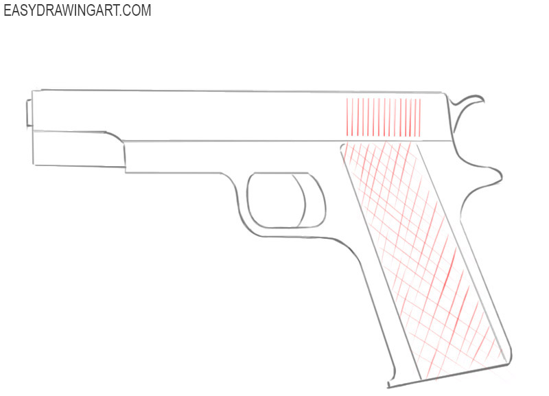 how to draw a gun easily