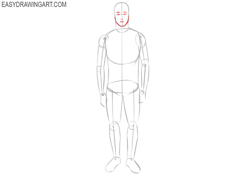 how to draw a guy full body