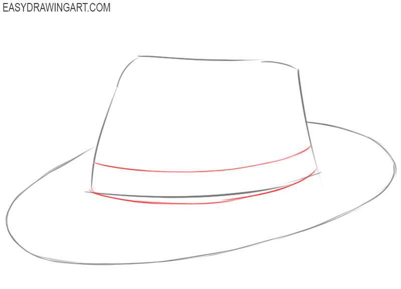 how to draw a hat drawing