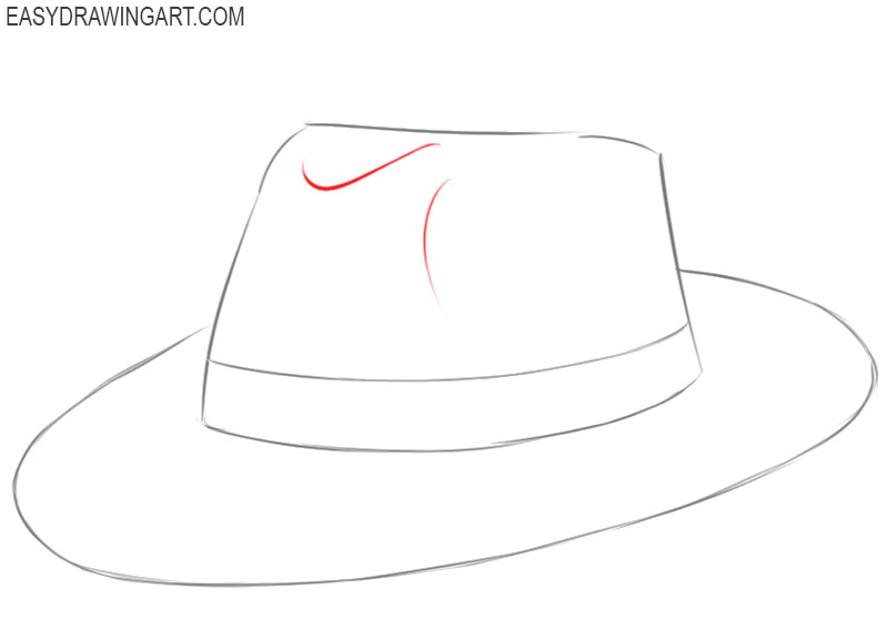 how to draw a hat in steps