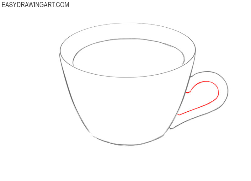 how to draw a hot cup of coffee