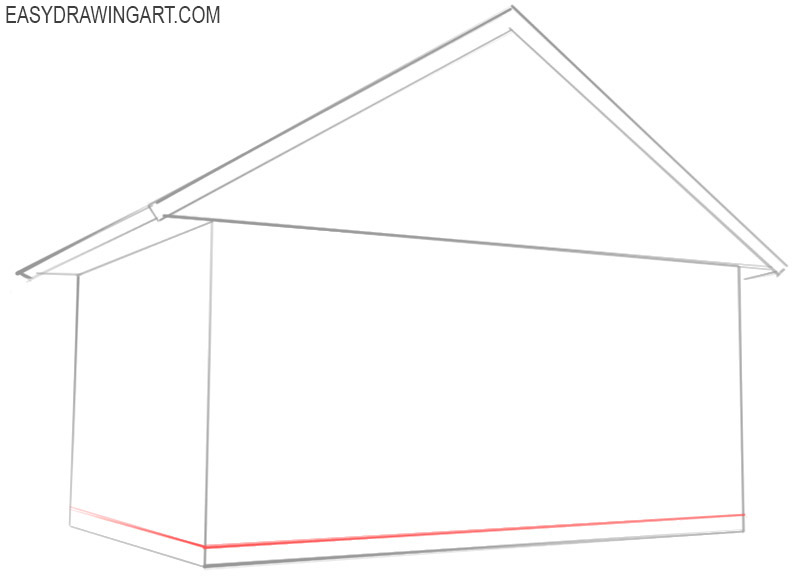 how to draw a house beginner
