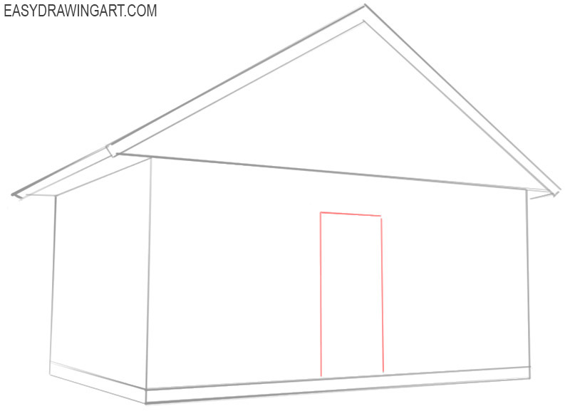 how to draw a house cartoon