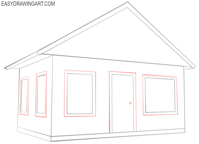 how to draw a house draw so cute
