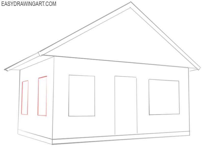 how to draw a house drawing
