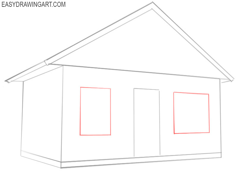 how to draw a house step by step with pictures