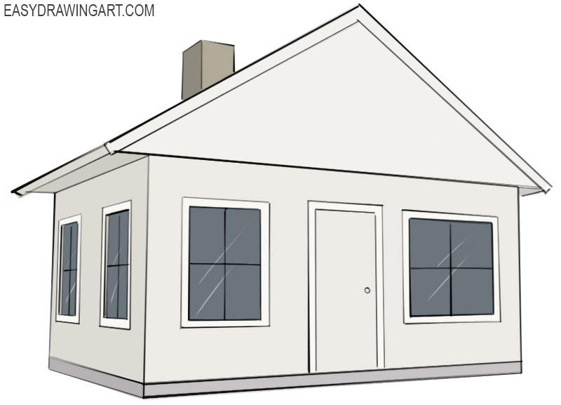 How To Draw A House Easy Drawing Art