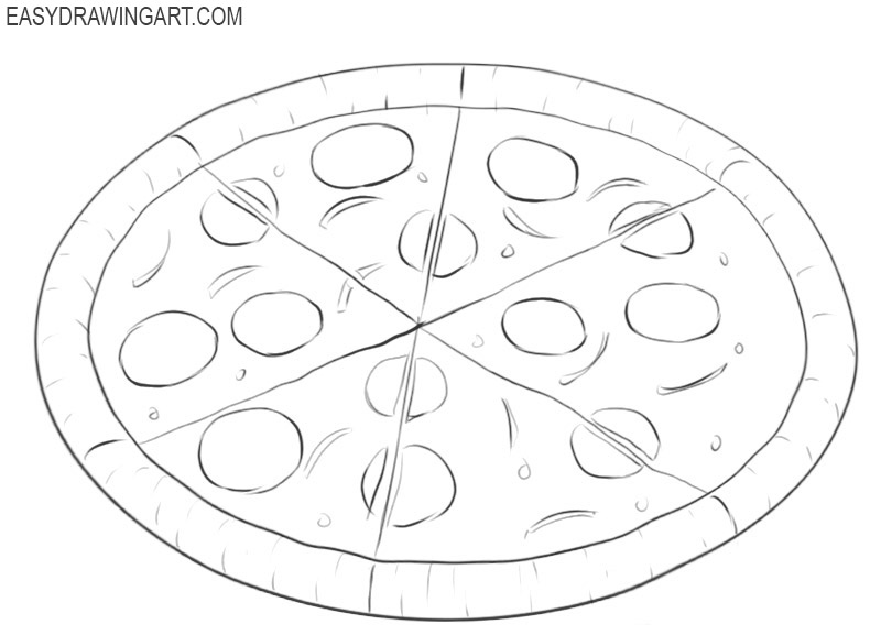 how to draw an italian pizza