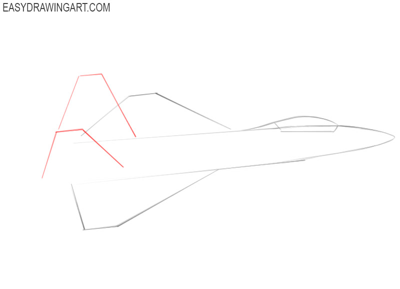 how to draw a jet easy step by step