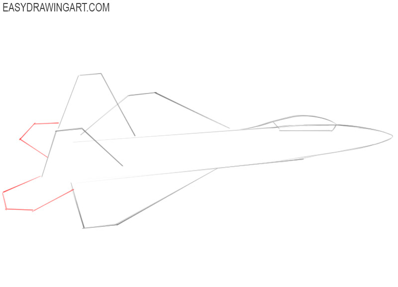 how to draw a jet for beginners