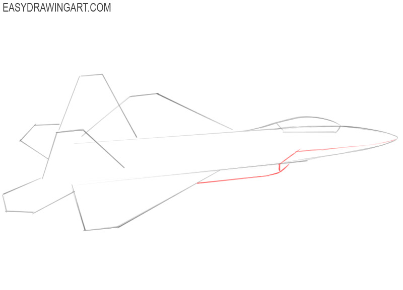 how to draw a jet step by step for beginners