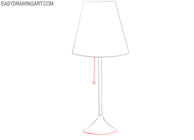 how to draw a lamp easy step by step