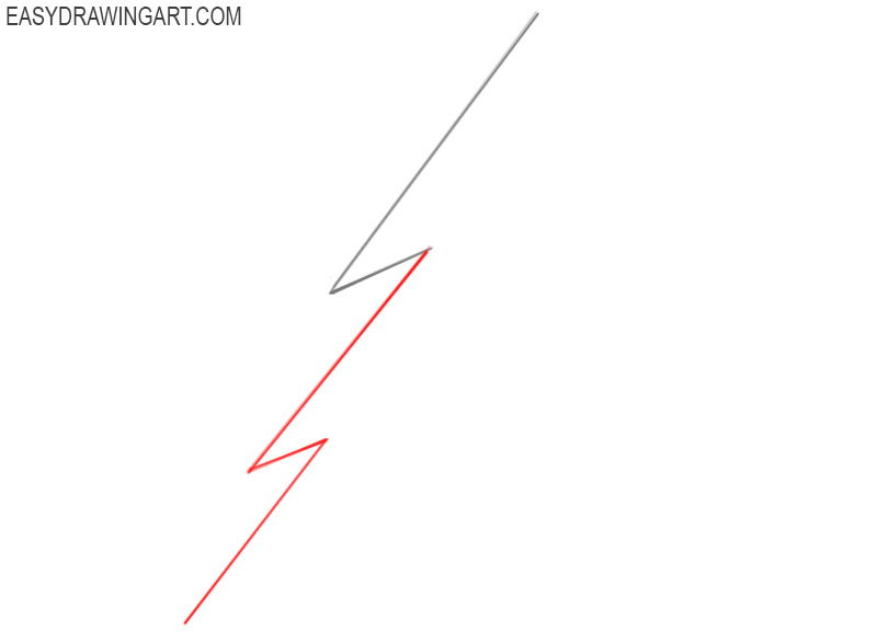 how to draw a lightning bolt step by step
