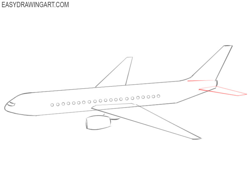 how to draw a little airplane