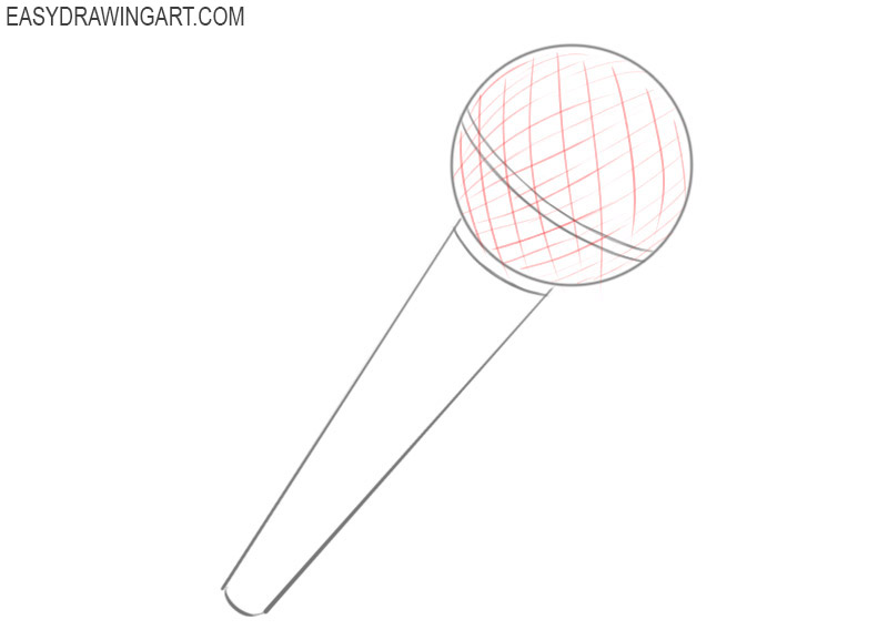 How to draw a microphone easy step by step