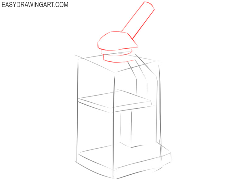 how to draw a microscope for beginners