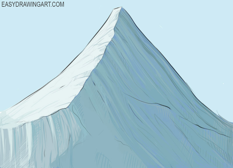 How To Draw A Mountain Easy Drawing Art Download 2,993 mountain drawing free vectors. how to draw a mountain easy drawing art