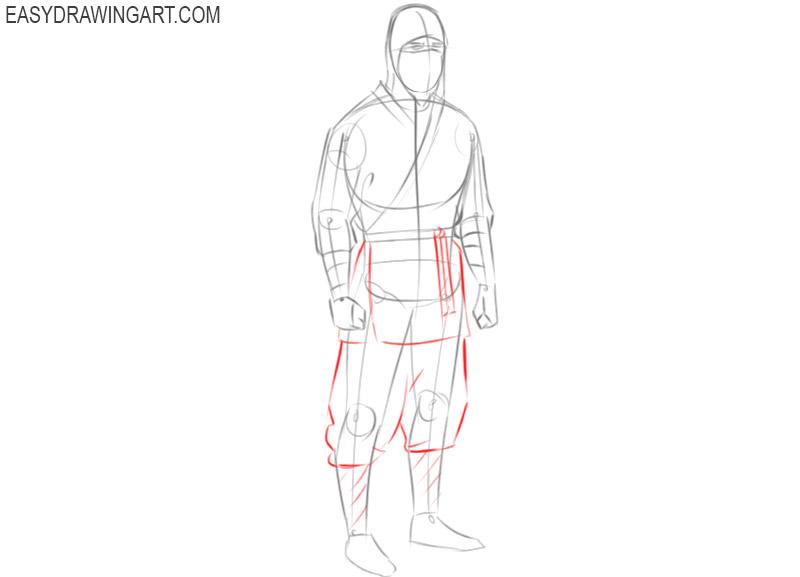 how to draw a ninja master