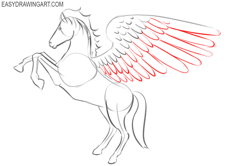 how to draw a pegasus draw so cute
