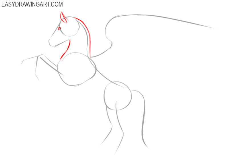 how to draw a pegasus easy step by step
