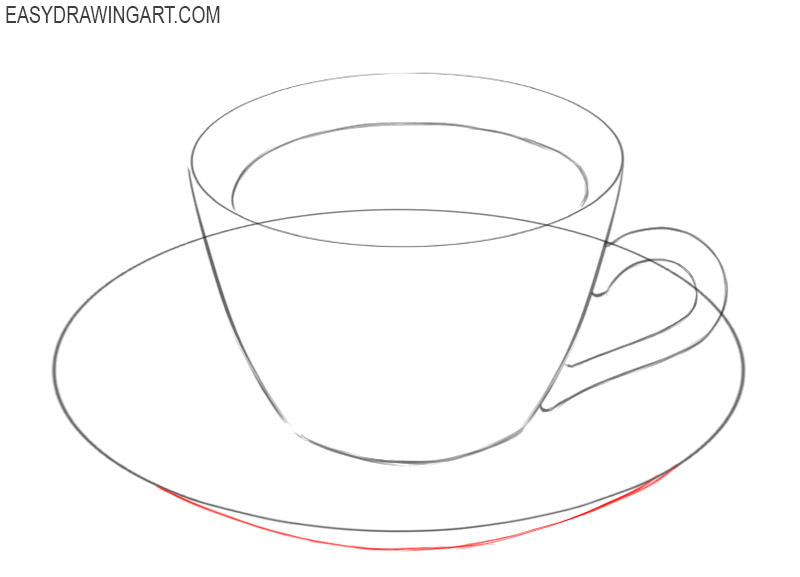 how to draw a perfect coffee cup