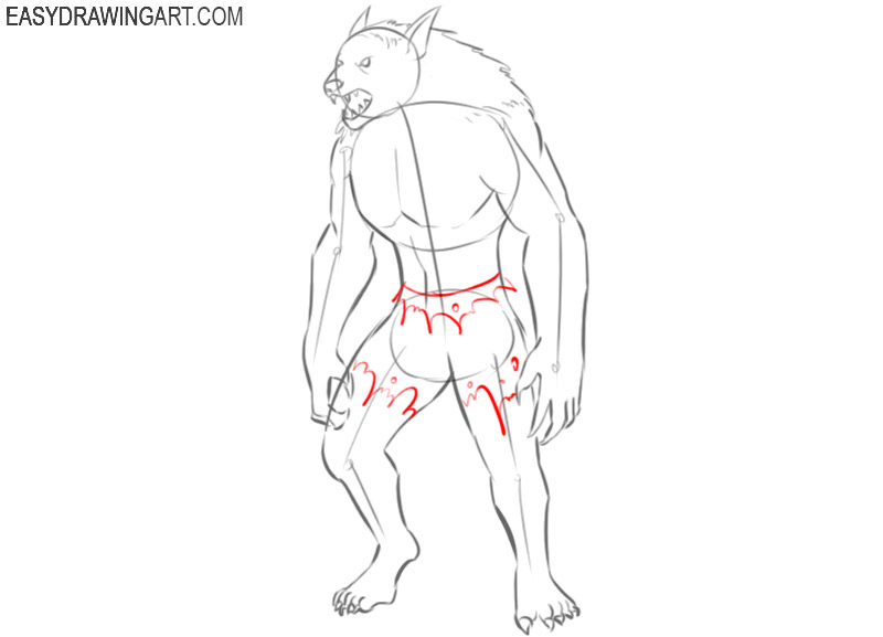 how to draw a picture of werewolf