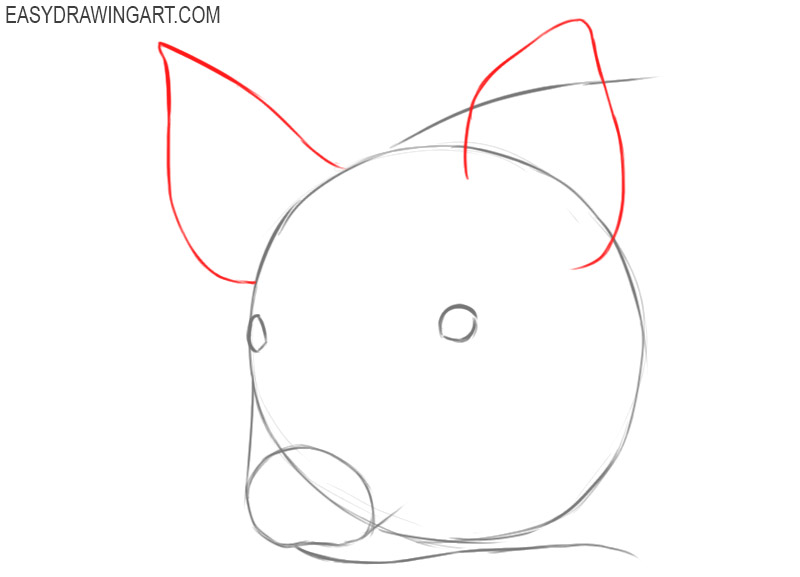 how to draw a pig face easy