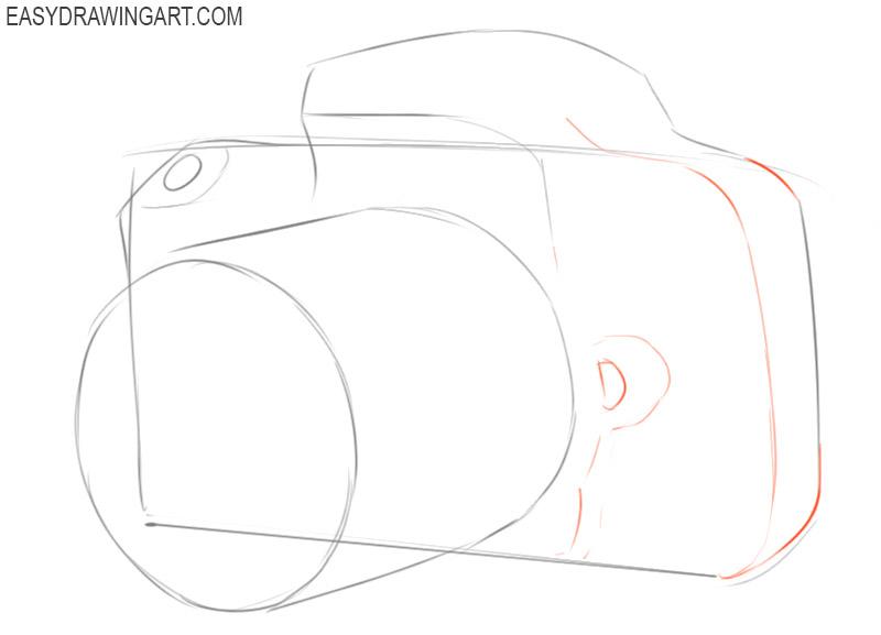 how to draw a polaroid camera easy