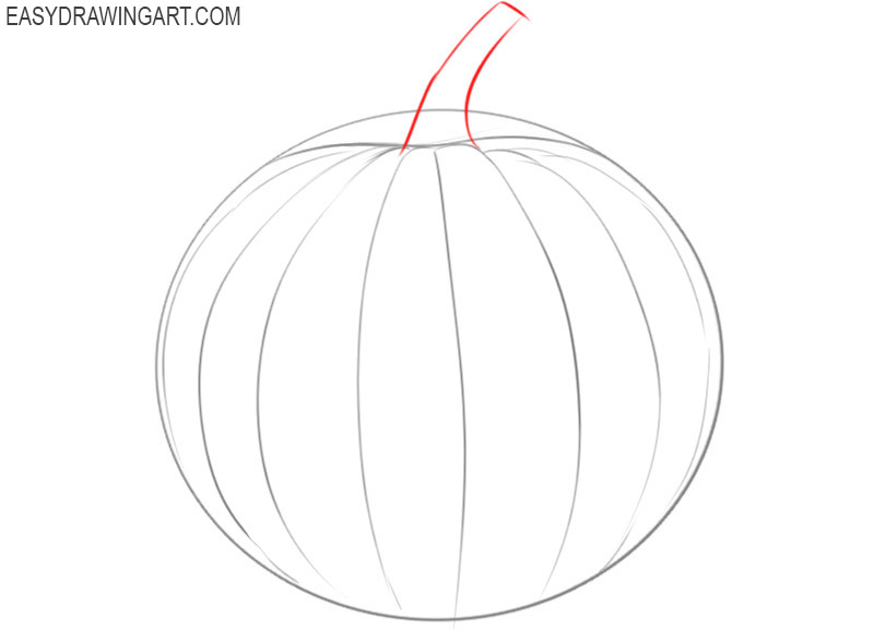 how to draw a pumpkin for beginners