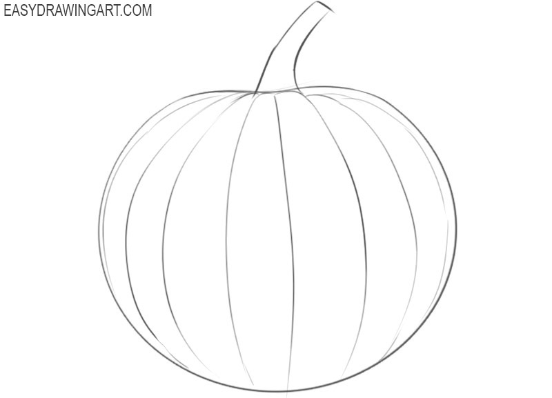 how to draw a pumpkin step by step for beginners