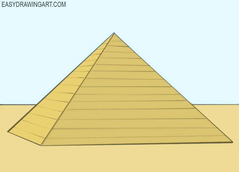 how to draw a pyramid