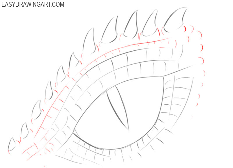 how to draw a realistic dragon eye step by step