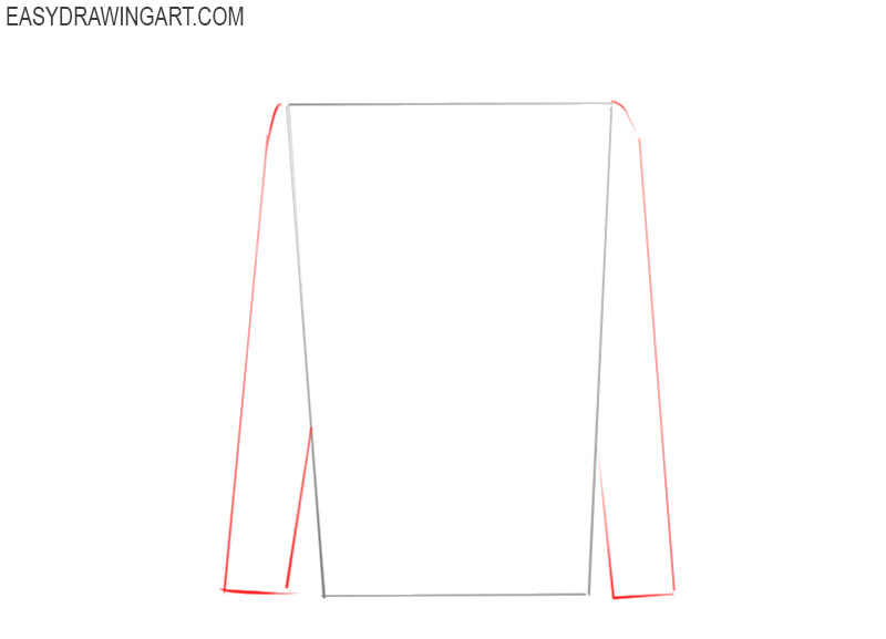 how to draw a shirt easy step by step