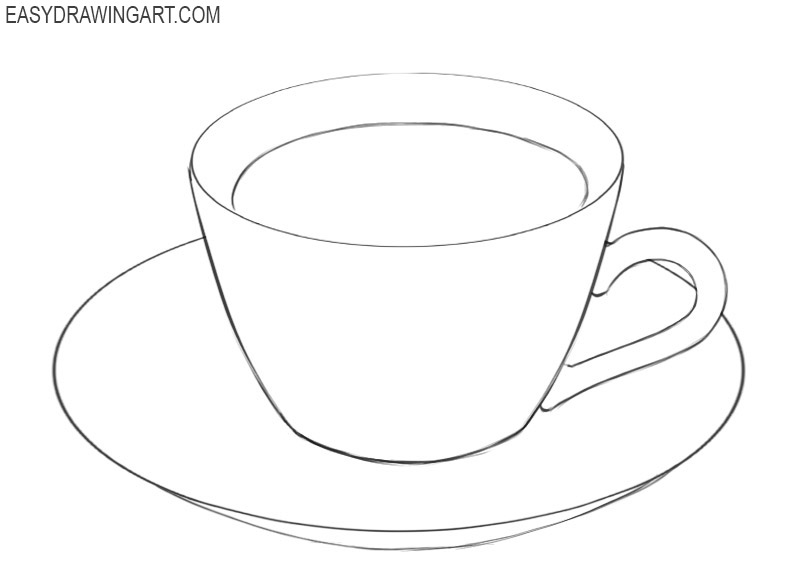 how to draw a simple cup of coffee