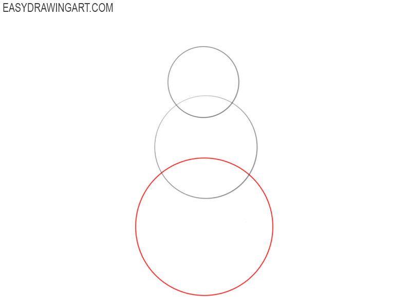 how to draw a snowman in steps