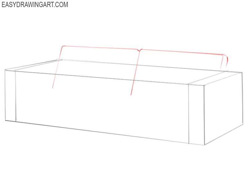 how to draw a sofa step by step