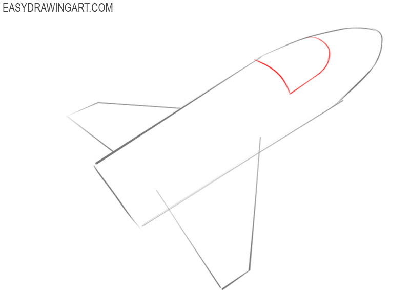 how to draw a spaceship step by step easy