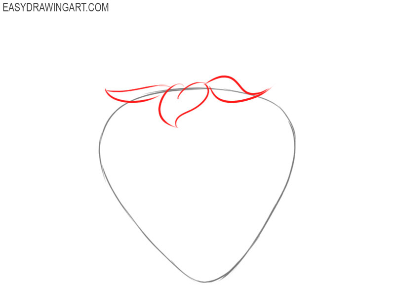 how to draw a strawberry cartoon