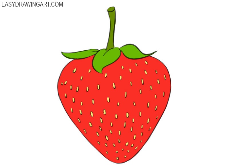 how to draw a strawberry