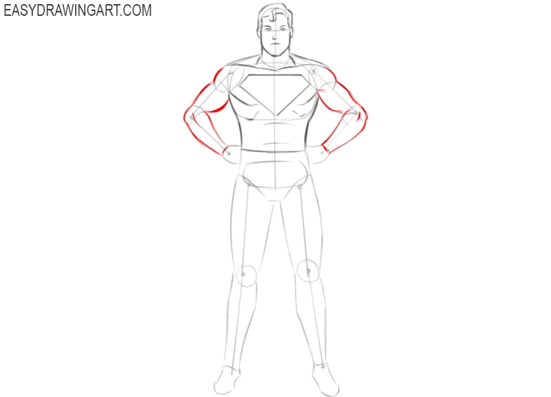 how to draw a superhero picture