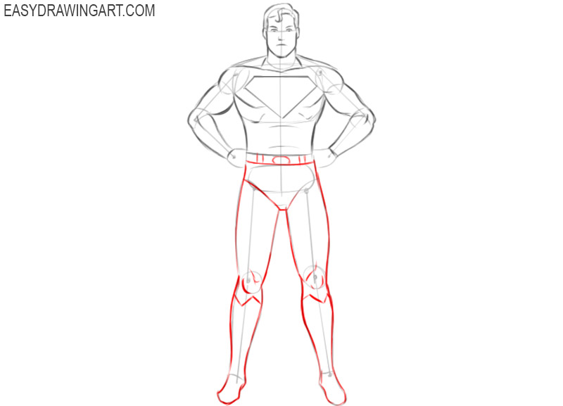 how to draw a superhero simple