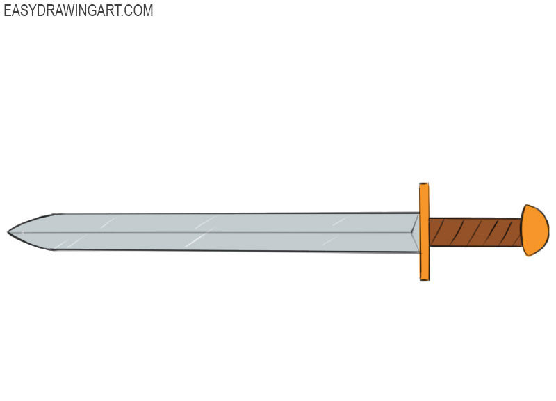 how to draw a sword